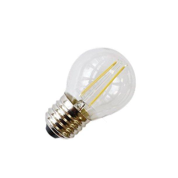 2W LED Krone pære - Varm hvid - Kultråd - E27