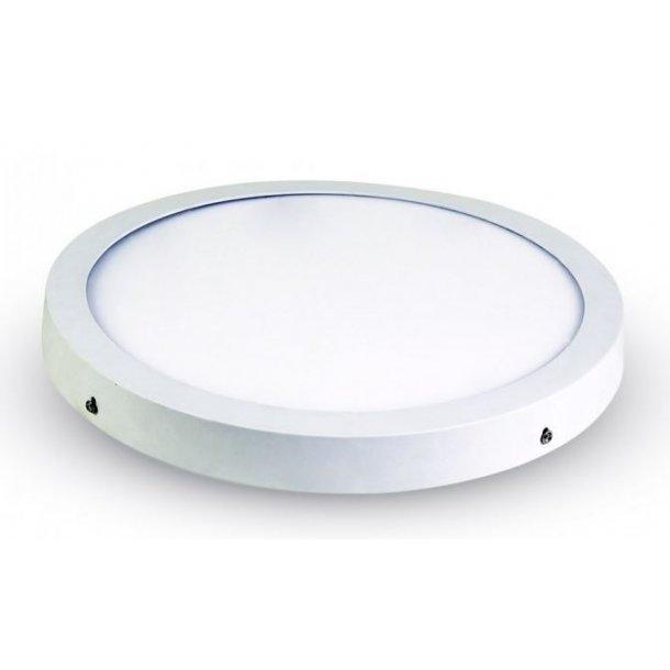 Super V-Tac Loft lampe / LED panel 48W - Ø60, alu kant - LED Lamper PO95