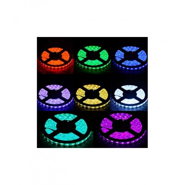 Sensationelle 5m LED strip vandtæt IP68, 12V, RGB, 60 LED, 5w pr. meter! - LED RN55