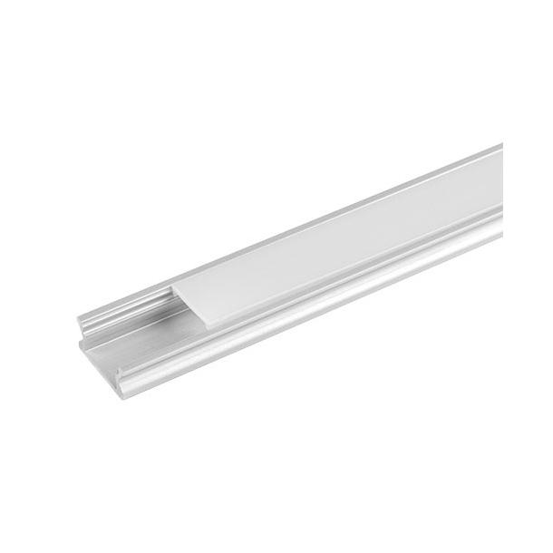 Aluminum profil til LED bånd, forsænket, 2 meter