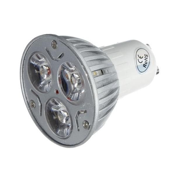 Bare ut GU10 - Varm hvid 3 LED spot, 3W, 12V, 290 Lumen - LED pære GU10 MN-36