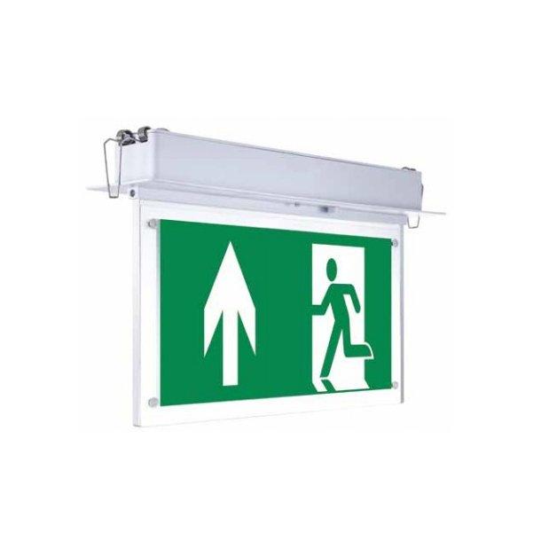 2 Watt loftmonteret/indbygget LED exit skilt - 120 lumen