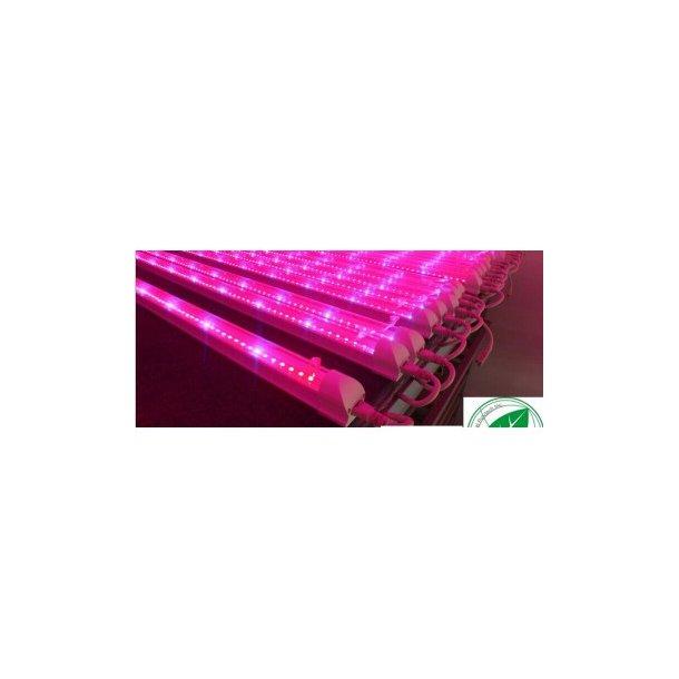 Komplet LED vækstrør med armatur - 90 cm - 11 Watt - 2:1