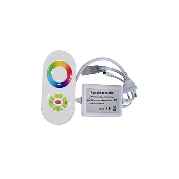 RGB kontroller med fjernbetjening - 230V - Memory funktion - Radiostyret