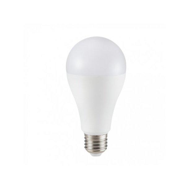 Alle nye 17 Watt LED pære - Samsung Chip - A65 - E27 - 1521 lumen TD47