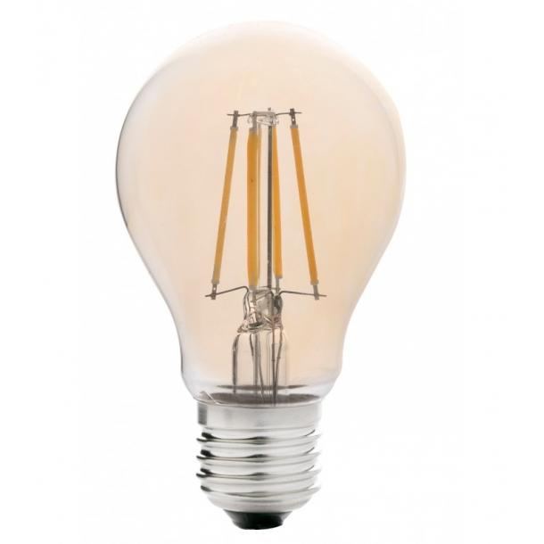 Udestående E27 - 4W LED pære - Dæmpbar, Kultråd, Røget glas, Ekstra varm TB33