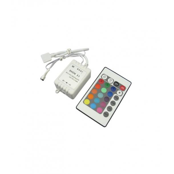RGB kontroller med fjernbetjening - 60W - Infrarød - 12V