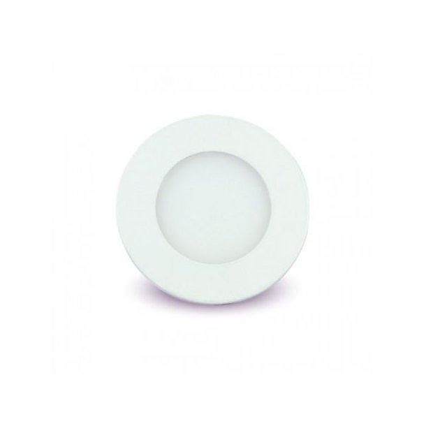 3W LED indbygningspanel - Hul: Ø7,3 cm, Mål: Ø8,4 cm, 230V