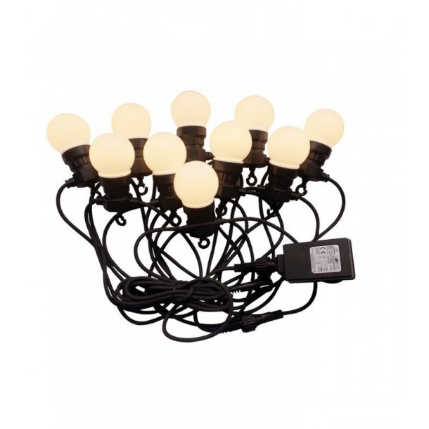 Sidste nye LED lyskæde med 10 stk. 0,5W pærer - 5 meter, IP44, 230V - LED QU-13